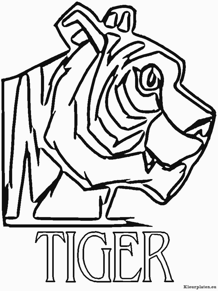 Afl Tigers Colouring Pages Afl Colouring In Pages