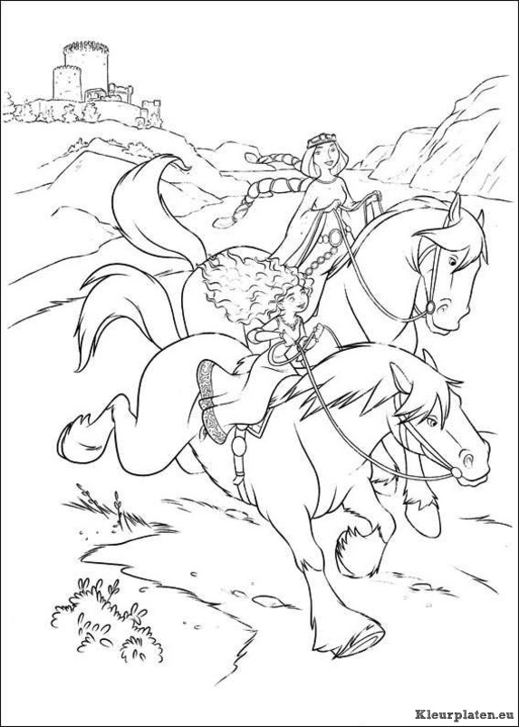Brave Coloring Pages Equestria Girlss