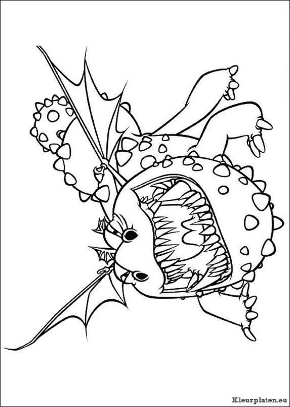 Coloring pages of how to train your dragon 2