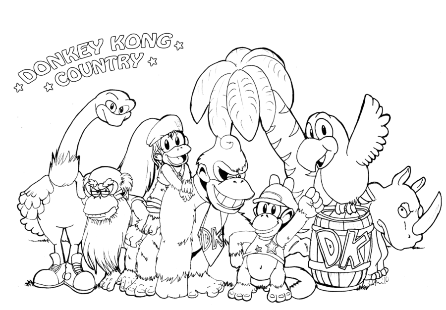 Dixie kong coloring pages hot girls wallpaper for Diddy kong coloring pages