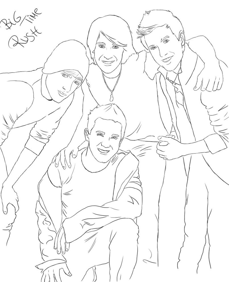 big time rush coloring pages - photo#5