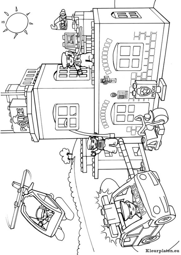 fire station building coloring pages - photo#17