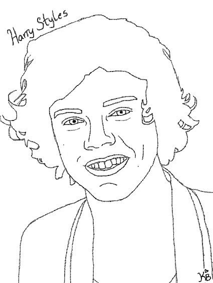 Harry styles one direction free colouring pages for Harry styles coloring pages